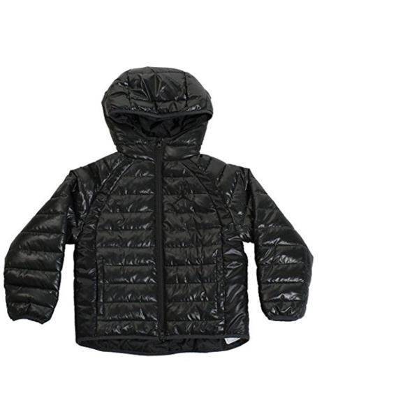 7f5c3bc45dd07b NWT NIKE AIR JORDAN boys puffer jacket coat black